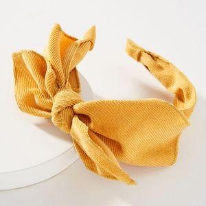 Anthropologie Rosalie Bow Headband Mustard Yellow